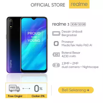Realme 3 Mediatek Helio P60 4230mah Battery